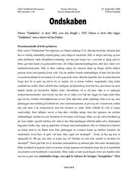 essay om ondskab studieportalen