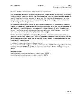 Del b FP10 maj 2019 | Modtagerrettet kommunikation