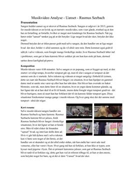 Uanset af Rasmus Seebach | Analyse