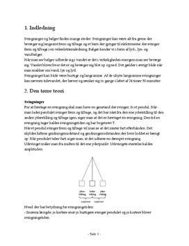 Svingninger - Fysikrapport (FS10)
