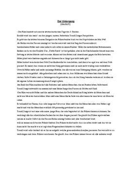 Der Untergang | Referat