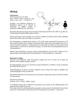 Økologi Noter - FSA Biologi