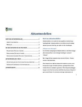 Aktantmodellen - Vejledning til brug af aktantmodellen i Dansk