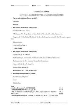 Tysk disposition schule