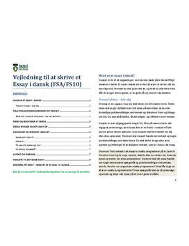 Essay i Dansk - Vejledning til at skrive Essay