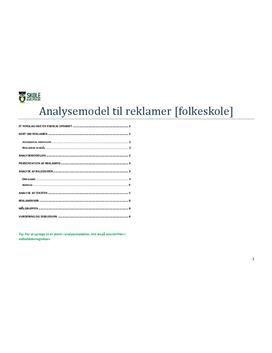 Reklameanalyse - Model til analyse af reklamer i Dansk