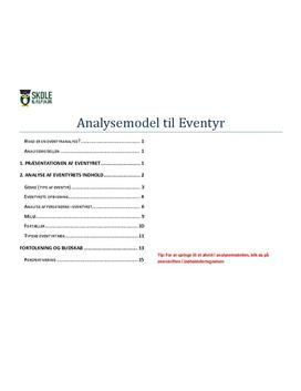 Eventyranalyse - Model til analyse af eventyr