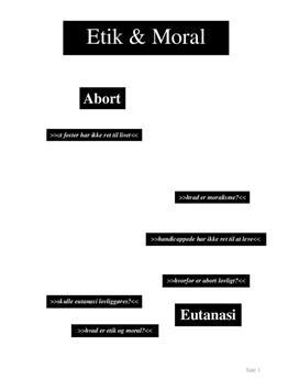 Projektopgave om etik og moral