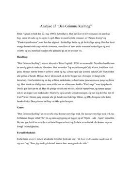 Analyse af Den Grimme Kælling