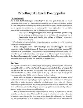 Ørneflugt af Henrik Pontoppidan | Analyse & Fortolkning