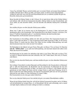 Tysk FSA mundtlig eksamen foredrag