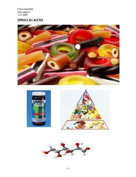 Opgave om spiselig kemi