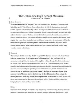 School Shooting - Columbine High School Massacre