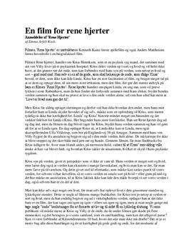 Anmeldelse af Rene Hjerter