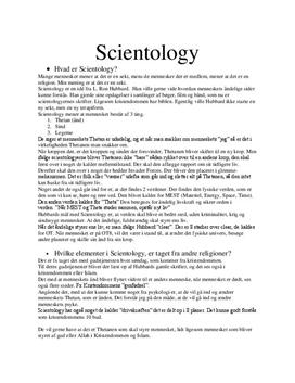 Scientology | Noter