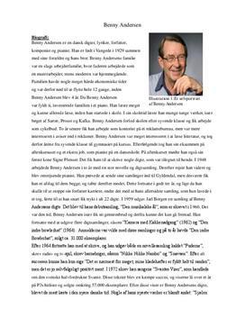 Analyse: På det tørre af Benny Andersen - modernisme og biografi