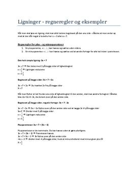 Noter til Ligninger og Grafer i Matematik