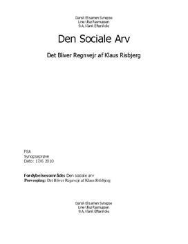 Analyse: Det bliver regnvejr af Klaus Rifbjerg