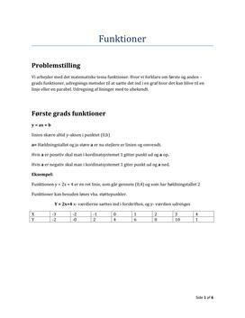 Projekt i FS10 Matematik om Funktioner
