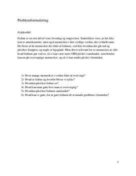 Fedme - Projektopgave i 9. klasse