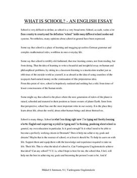 Opinion essay about school rules