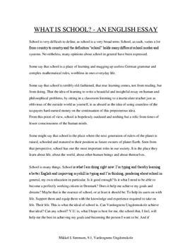 Essay on School - Engelsk FSA