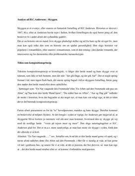 Skyggen af H.C. Andersen | Analyse