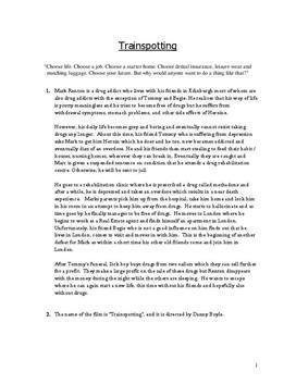 Trainspotting | Filmanalyse