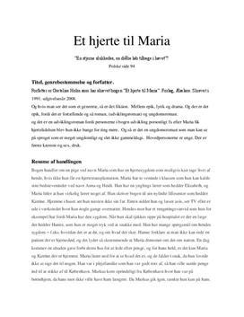 Et hjerte til Maria af Gretelise Holm   Analyse
