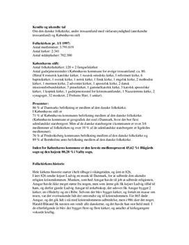 Den danske folkekirke - opgave i kristendomskundskab