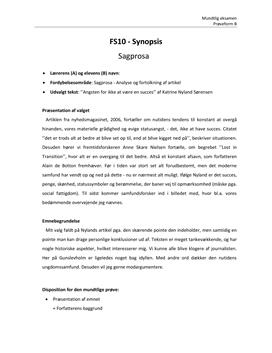 dansk essay disposition eksempel