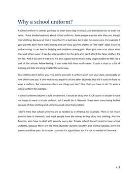 Why A School Uniform?