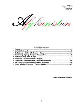 Afghanistan | Rapport