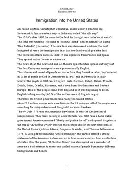 Essay about usa