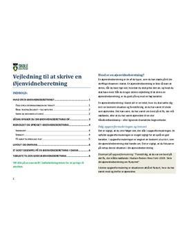 Øjenvidneberetning - Vejledning til at skrive dansk stil