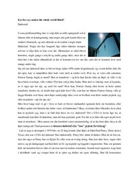 Problemer med dødsstraf - Projektopgave i 9. klasse