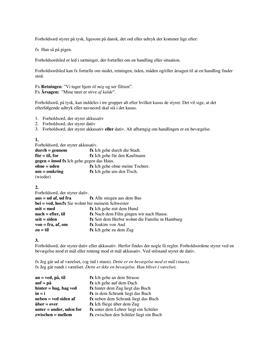 Tysk Noter om Forholdsord - Grammatik