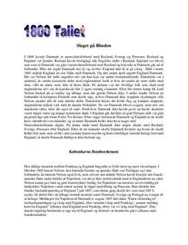 1800 tallet - Opgave i Historie