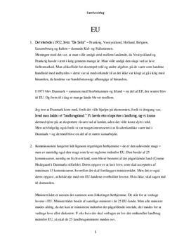 EU - Opgave om EU i Samfundsfag