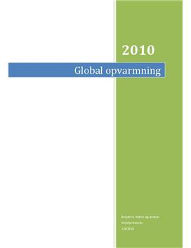 Global Opvarmning | Projekt i 9. klasse