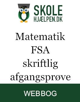 Matematik FSA skriftlig afgangsprøve