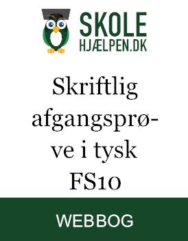 Skriftlig afgangsprøve i tysk FS10